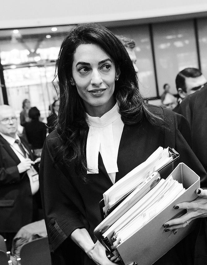 Amal Alamuddin Clooney - Internationally celebrated human rights lawyer and advocate.