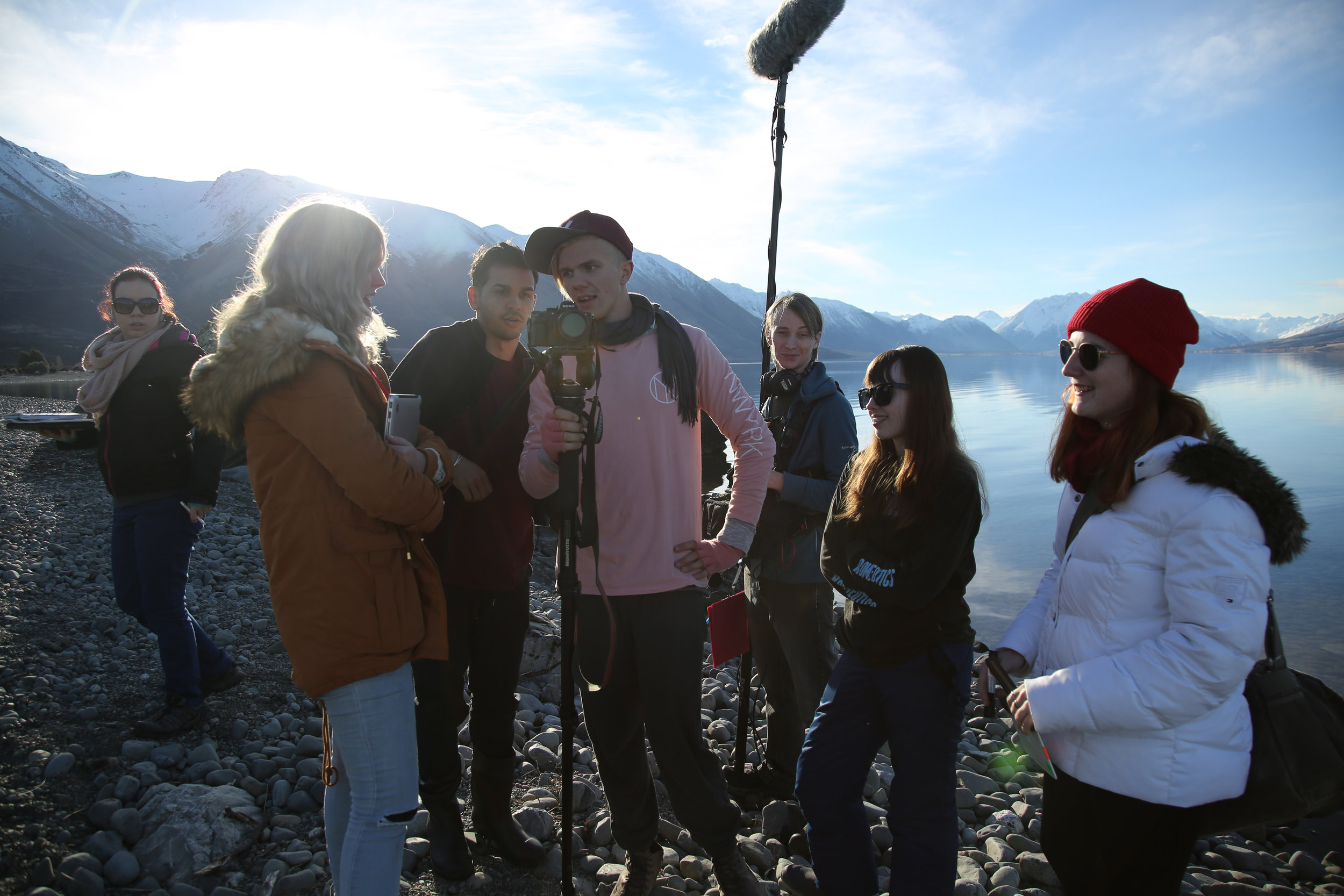 During filming of Skin (2017) in New Zealand.