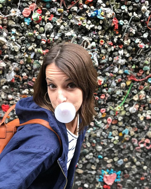 "This is Bubblegum Alley in @downtownslo. It was ""cleaned"" three times between 1970-1996...and today it's bigger and better than ever.  Things like this get created bc someone had a big idea that took years of small (albeit, gross) actions to make a reality. In its own weird way, Bubblegum Alley is a testament to the power of SMALL.  Yesterday in stories, I shared my idea for a ""summer of small things."" Rather than set lofty goals for the next few months, let's take tiny, intentional actions each day towards being the best version of ourselves.  My #summerofsmallthings list? • 30 min of exercise each day • Enjoy my children • Maintain our family's weekly expense budget  What's one small thing you'd like to accomplish this summer?"
