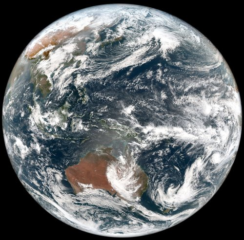 HIMAWARI8 RGB Image of Australia. Image provided by Bureau of Meteorology