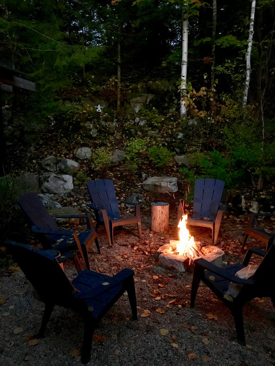 The Rear Firepit at The Bear Stand - Perfect for Ghost Stories