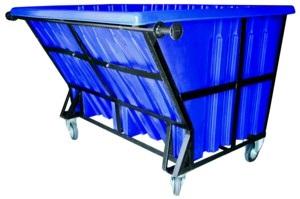 Copy of 1500L Garbage Bin (Metal Frame & PE Bin)