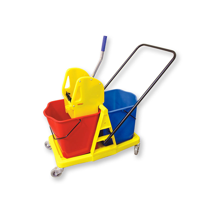 Wringer with Dual Mopping Buckets