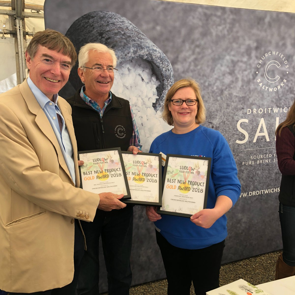 Ludlow Food Festival Awards for Droitwich Salt
