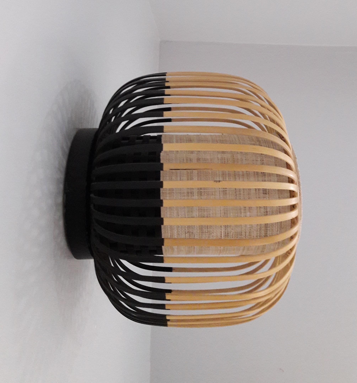 applique murale lampe bambou design