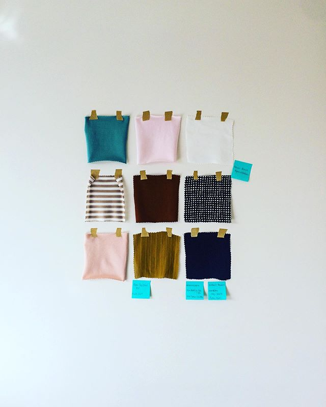I love how this mini collection of fabrics pieces together 🥰 'Building Blocks' has been on my mind and gaining status in my workroom since the end of July and I'm so pleased that last week I was able to share it with you all!!! I've tried to give you a variety of weight, texture and print in this collection...with every fabric ticking my quality requirements because I'm going to be the first person to put my hand up and state that you deserve it Lovely 👊🙋♀️ L to R & top to bottom is  Teal Cotton Knit, Pink Cotton Knit, Vintage White Cupro  Coffee and White Modal Cupro Knit, Gingernut Viscose Knit, Black Polkadot  Blush Cotton Knit, Chartreuse Viscose & Navy Cupro  So, what's your favourite fabric here? I sway between the Chartreuse Viscose and the Navy Cupro 🙊