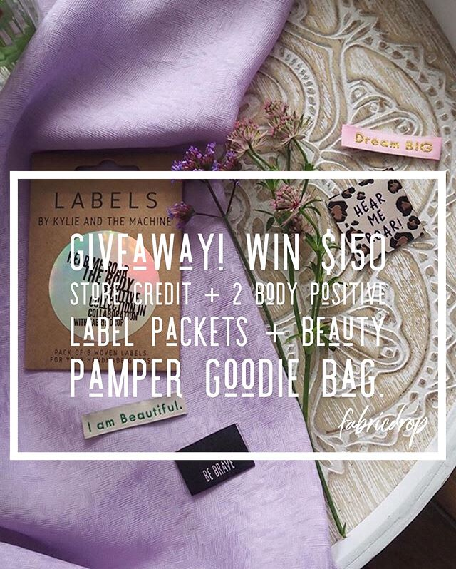 I've teamed up with Atia from @thebrightblooms and we are hosting a massive giveaway on Instagram!  One lucky winner will get to create a fabulous outfit with this prize and feel simply amazing:  2x Limited Edition Body Positive label packets  PLUS $150NZD to spend at Fabric Drop  AND a Beauty Pamper goodie bag.  Total prize value $200NZD  To enter: - Follow both our accounts: @fabricdrop and @thebrightblooms - Tag a friend in the comments (multiple entries allowed) - For an extra entry share this picture on your account/stories and tag us both. The winner will be announced on Saturday 19th October  Competition is open worldwide.  This promotion is in no way sponsored, endorsed or administered by, or associated with Instagram.  #fabricdrop #fabricstore #repostthis #competition #bplabels #thebrightblooms #indiesews #nzsews #uksews #canadasews #usasews #katmlabels #sewcialists #sewistsofinstagram #handmadewardrobe #imakemyownclothes #diyfashion