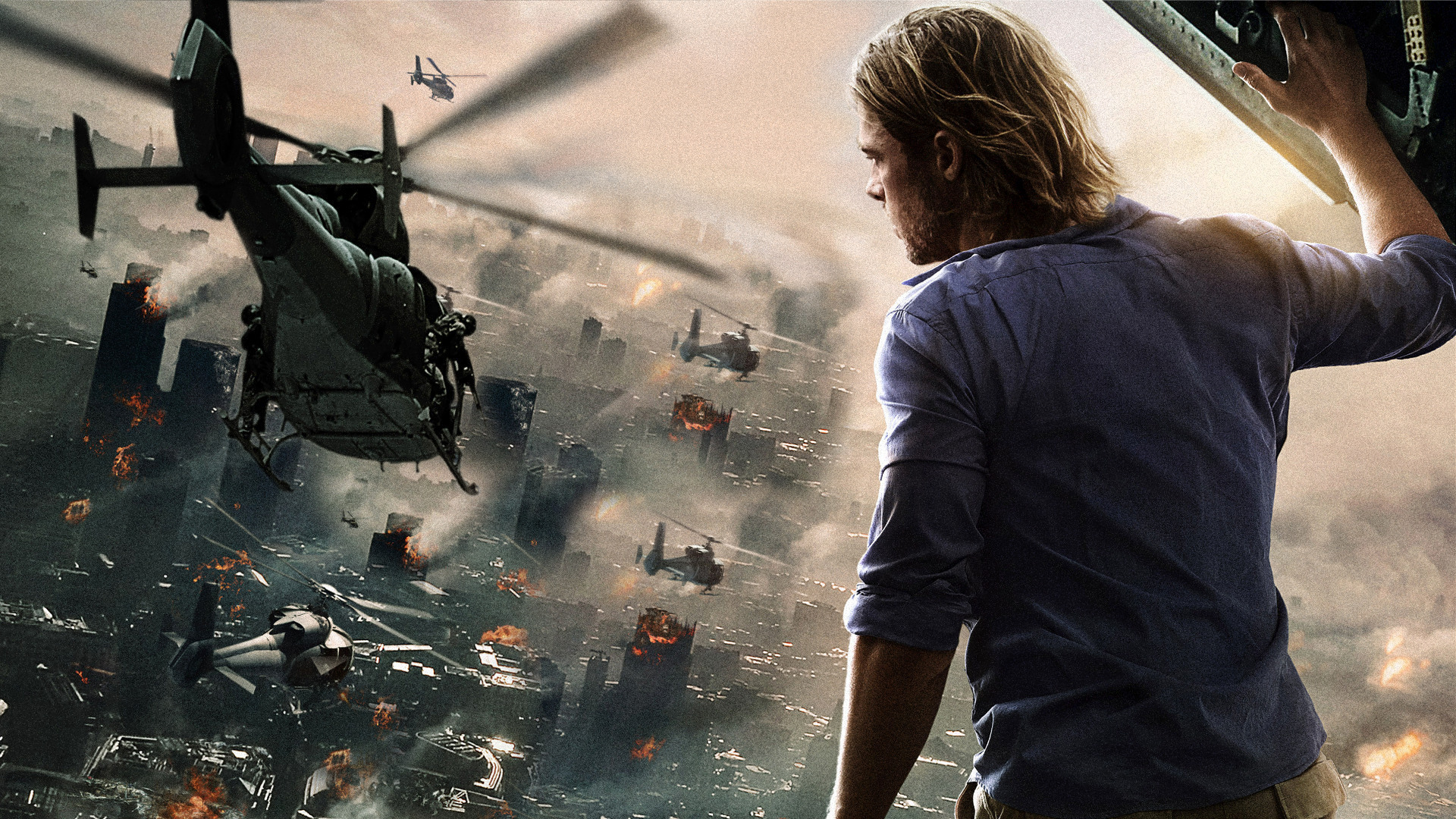 A natural hero -  World War Z 's Gerry, played by Brad Pitt.