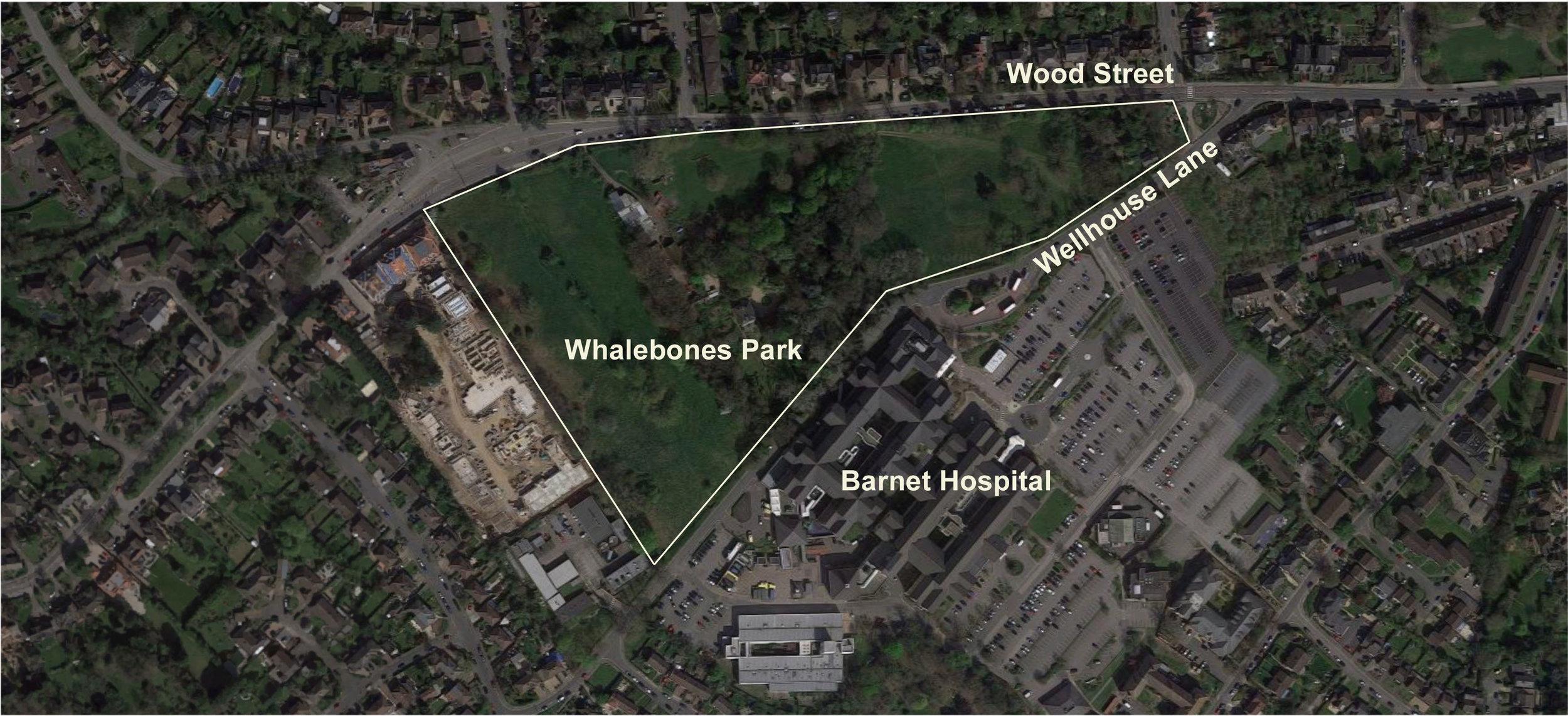 Wood street Barnet hospital map.jpg