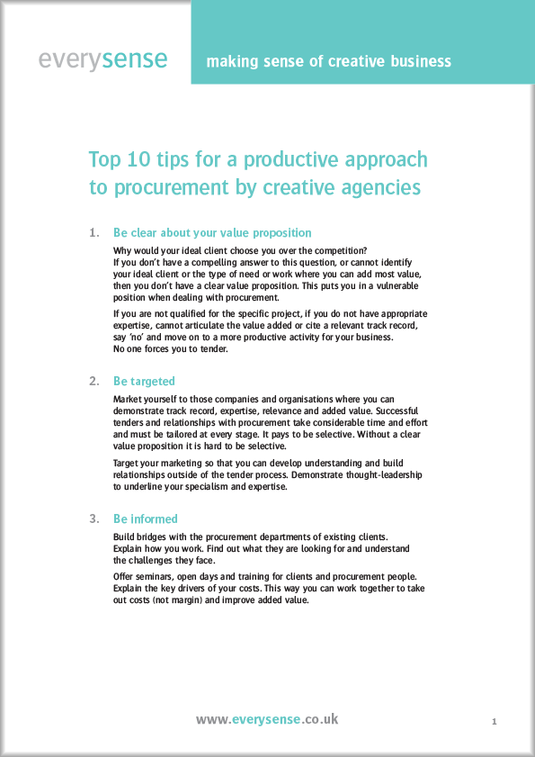 Every Sense Guide: Top 10 tips for working with procurement