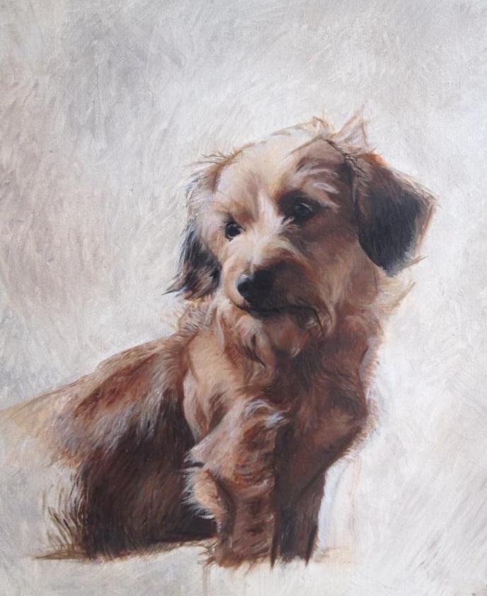 Oil on canvas, Terrier. 16x18 inch.jpg