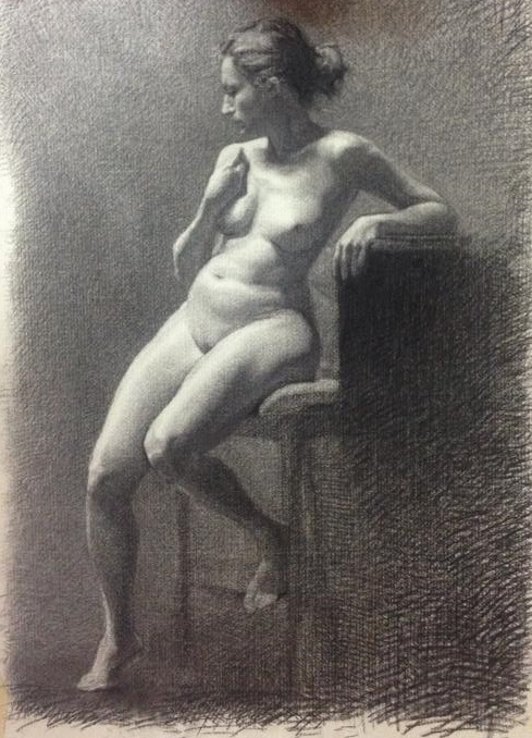 Charcoal and white chalk, Reclining female. 25x20 inch.jpg