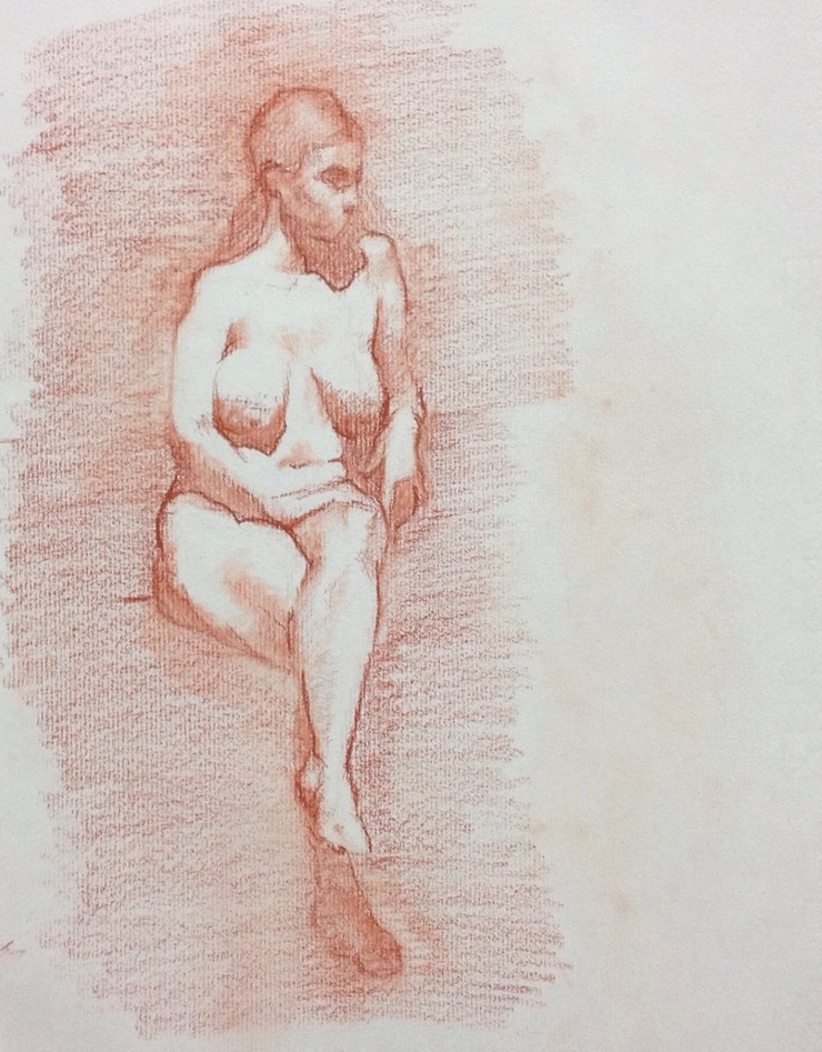 Sanguine, Seated nude. 8x10 inch.jpg