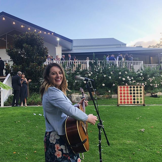 Such a wonderful afternoon playing at Soph and Rich's wedding at the gorgeous @aravinaestate  #southwestweddings #lainewolfe