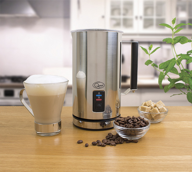 Electric Milk Frother - Hot frothy milk in seconds to add to your favourite drinks - cappuccinos, lattes, coffee, hot chocolate & more!