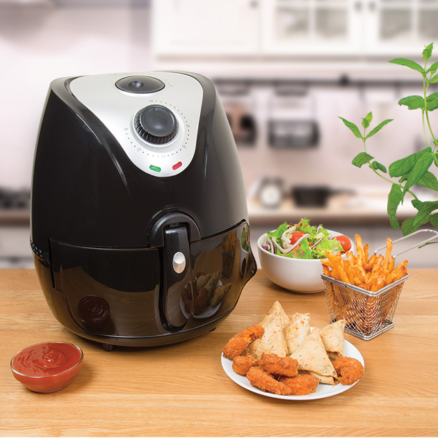 Thermo Air Fryer - Dynamic air technology ensures your food is crisp on the outside and perfectly cooked on the inside. With a 2.2 Litre capacity basket, feeding the family the healthier way will be no problem.