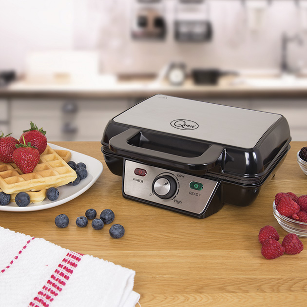 2 Slice Waffle Maker - Crisp waffles in minutes! Cook two crisp plain or flavoured waffles in minutes then add your favourite toppings before serving.