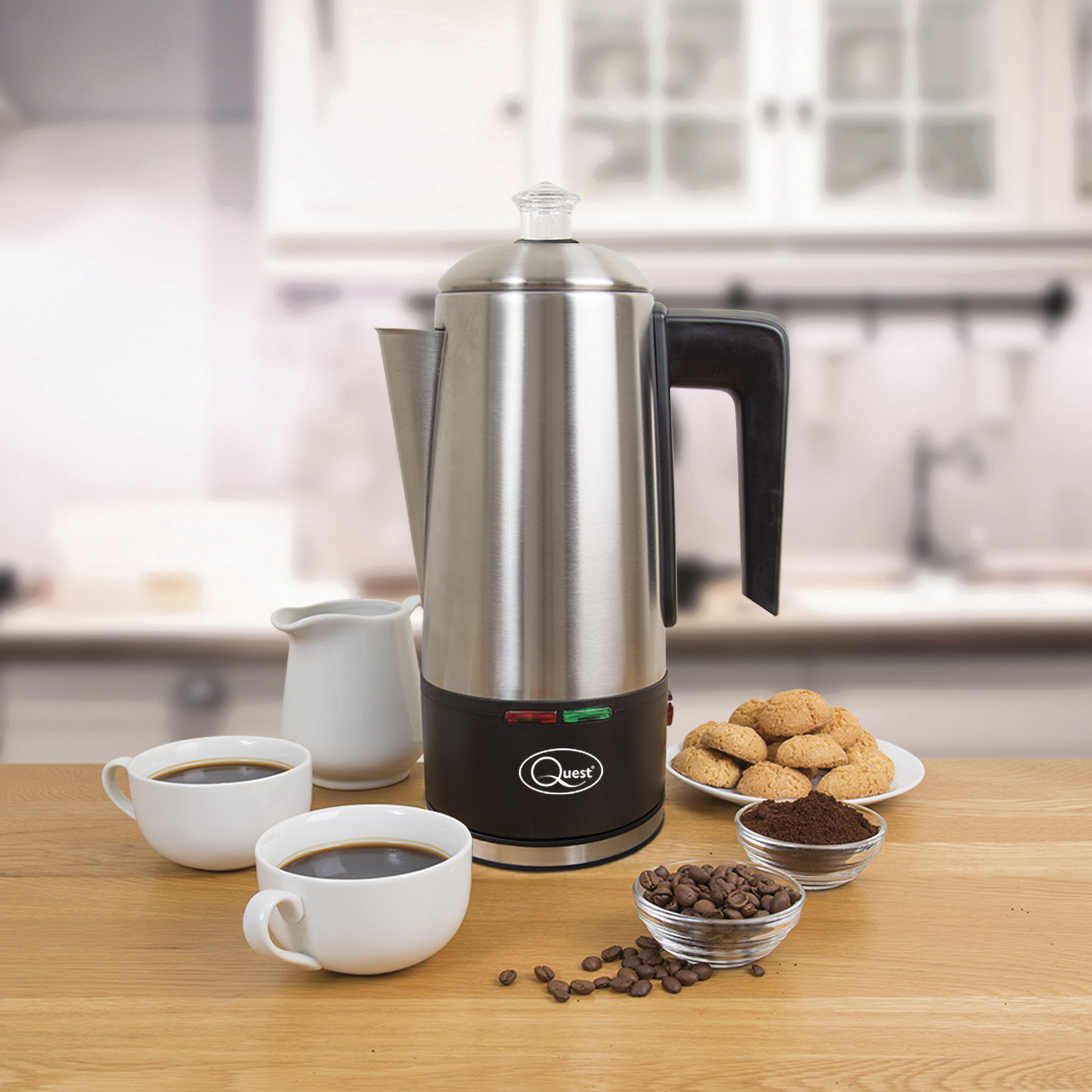 1.5L Electric Coffee Percolator - Create perfect fresh coffee, enjoy anytime using the keep warm function.