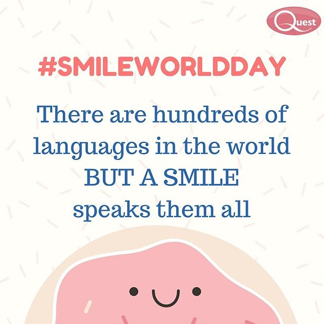 Did you know children smile an average of 400 times a day, and adults only 20 times a day? #Smile! 😁 #WorldSmileDay #FridayFeeling 😁  #questappliances