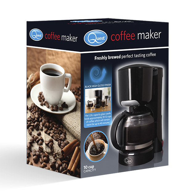 Black coffee maker box