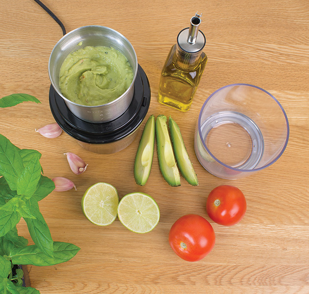 Wet and dry grinder to make guacamole