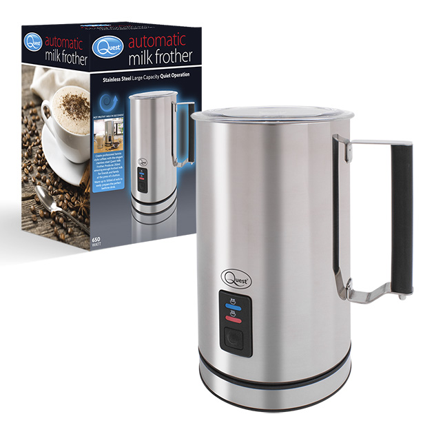 Stainless Steel Hot/Cold Double Walled Milk Frother and box
