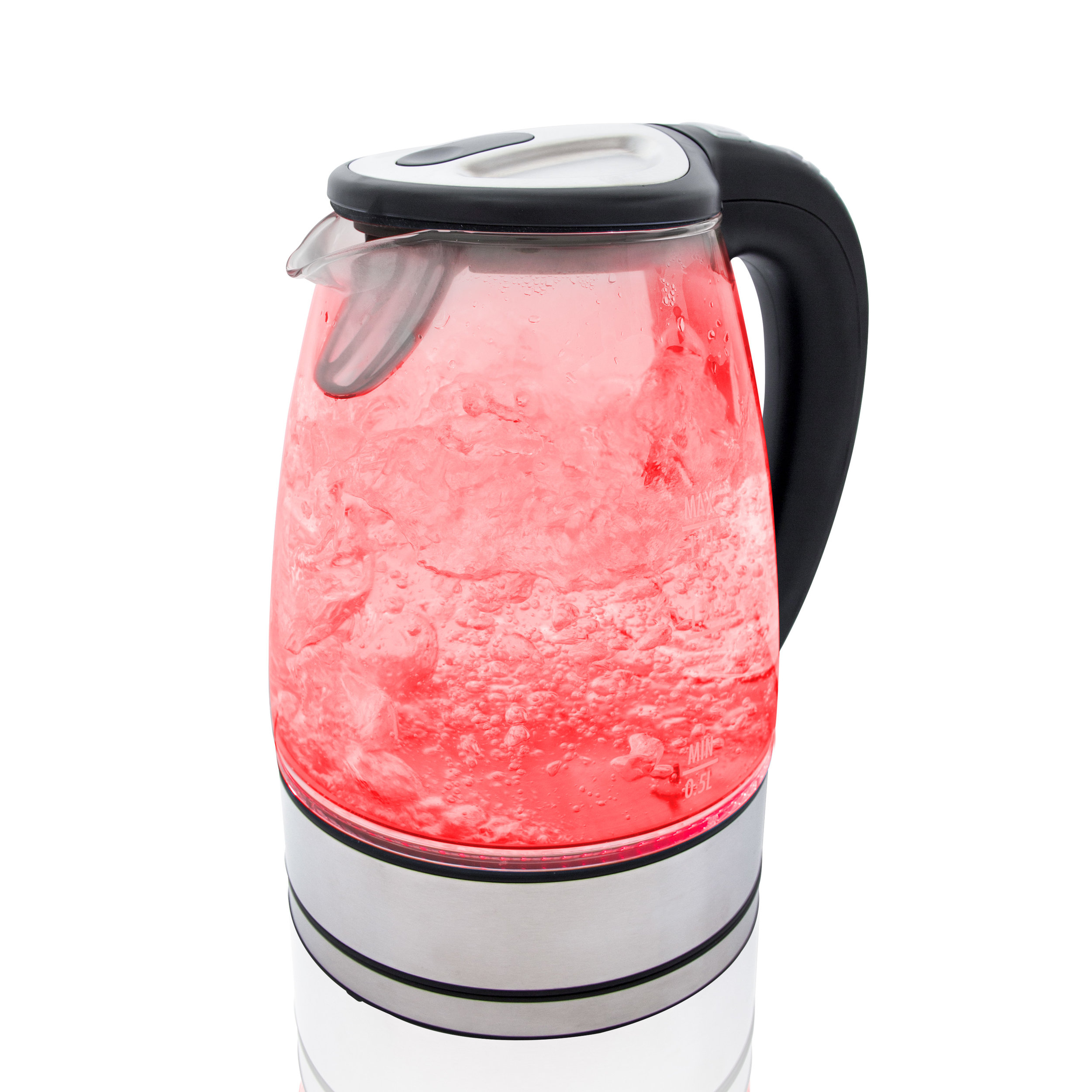 Variable Temperature LED Glass Kettle