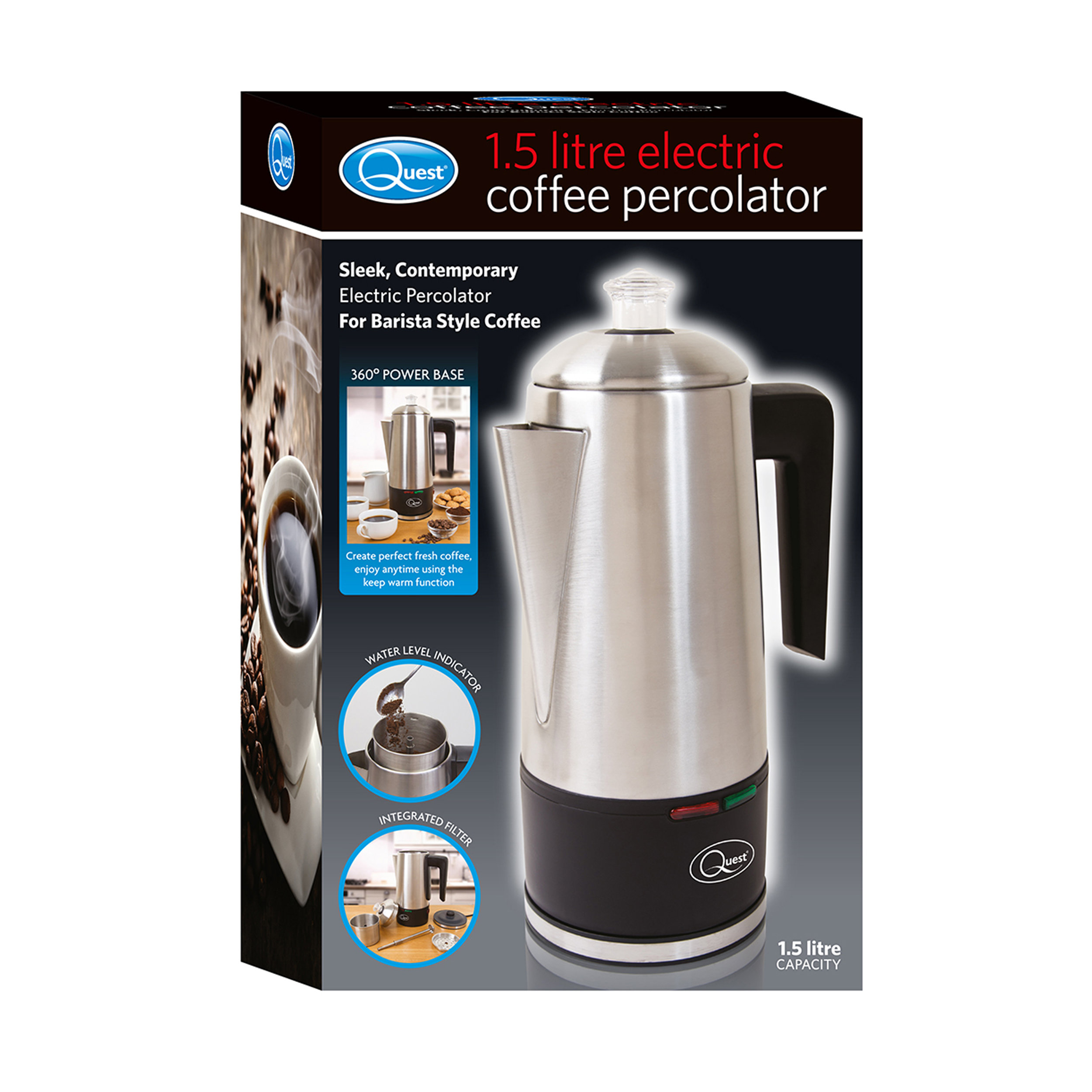 1.5L Electric Coffee Percolator box