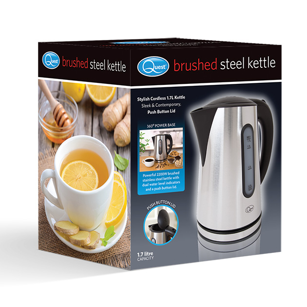 1.7L Brushed Steel Kettle box