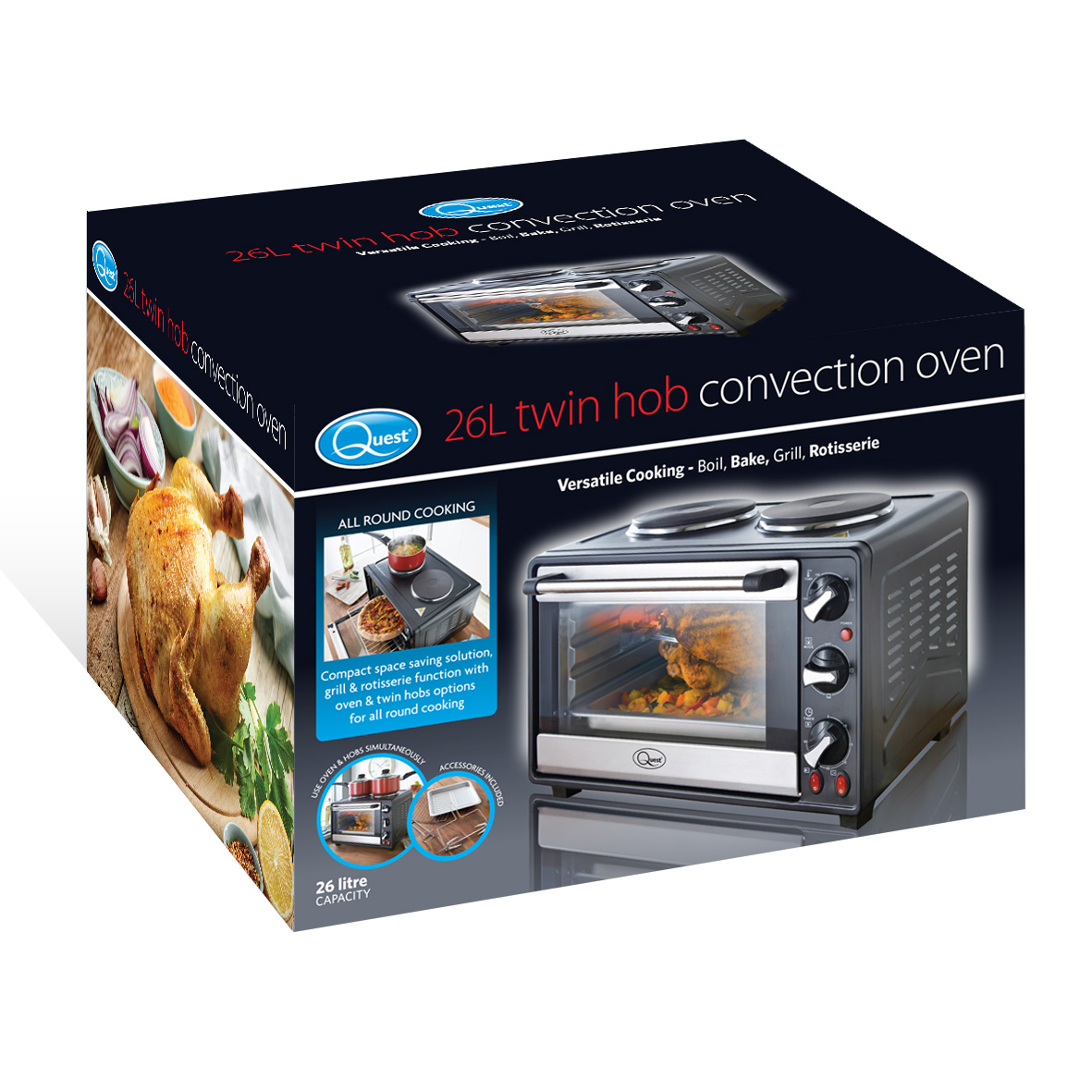 Twin Hob Convection Oven box