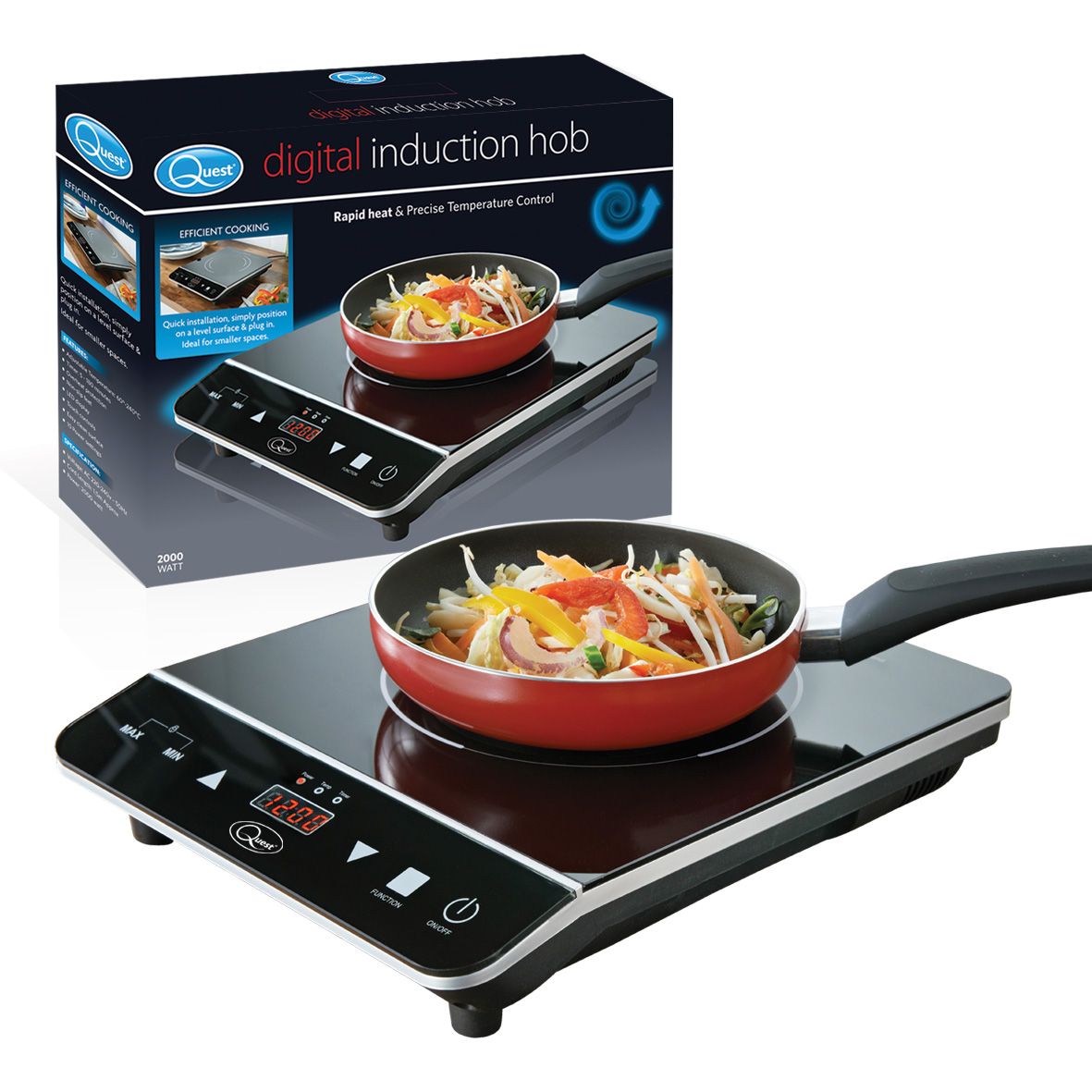 Single Digital Induction Hob and box