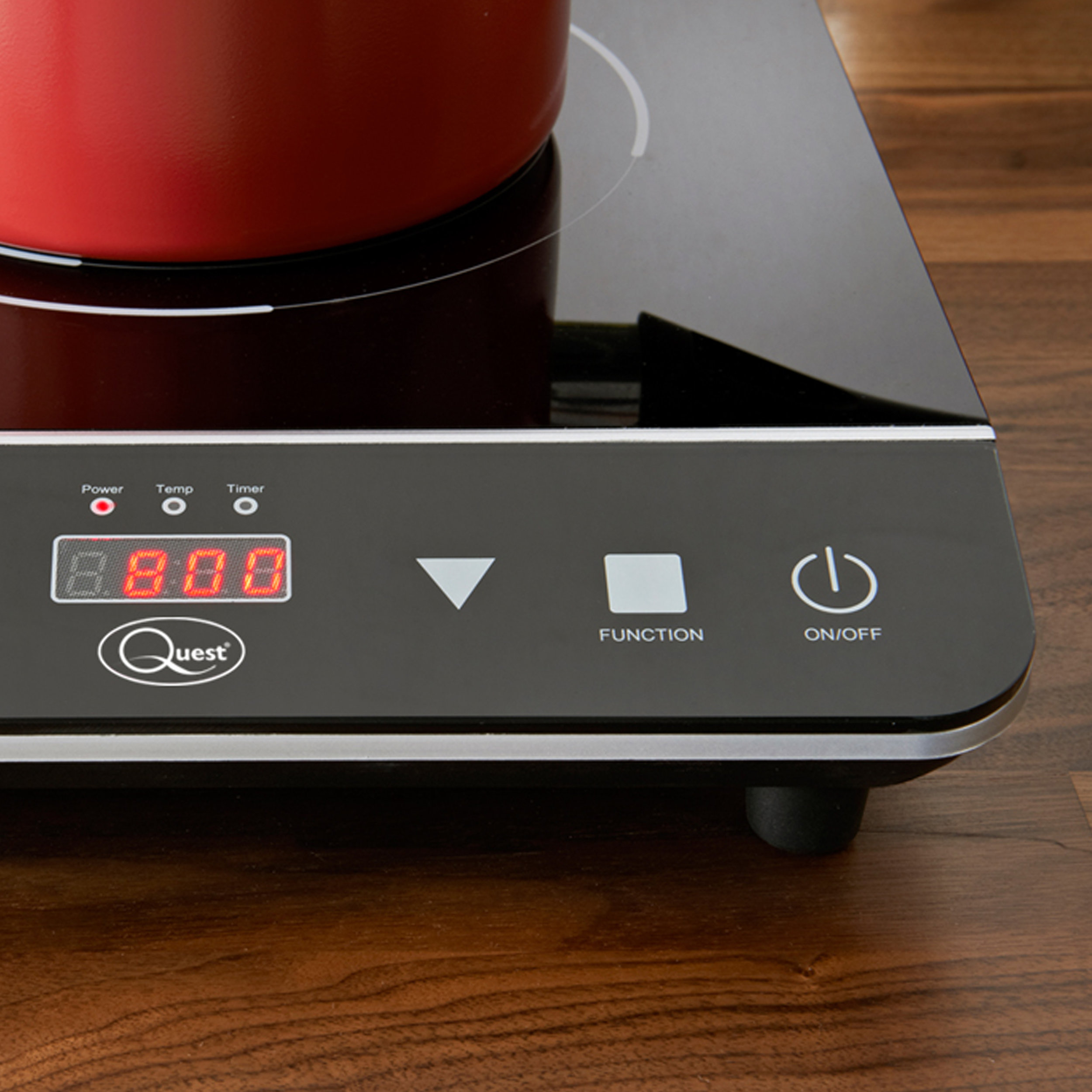 Single Digital Induction Hob controls
