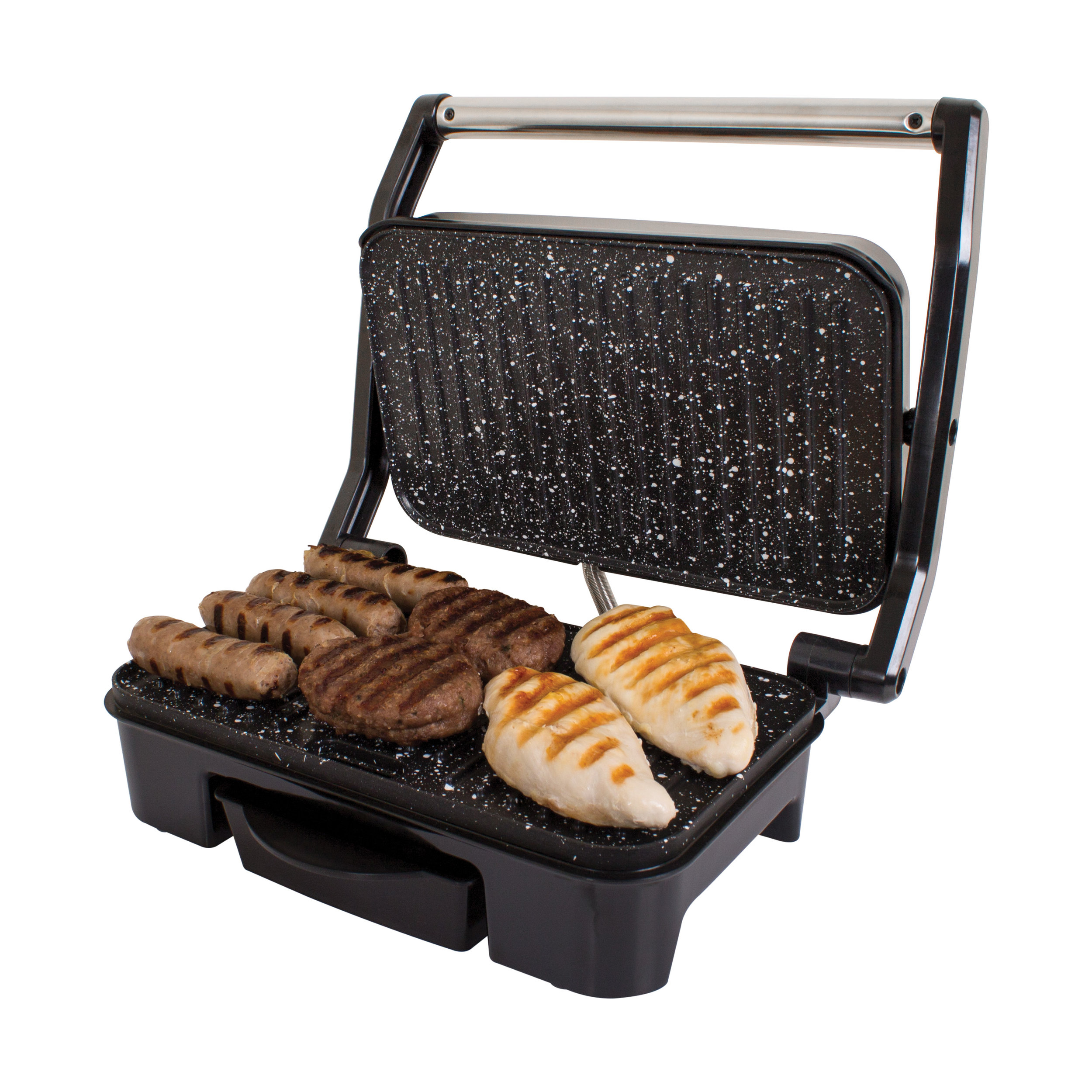 Deluxe Health Grill grilling meat