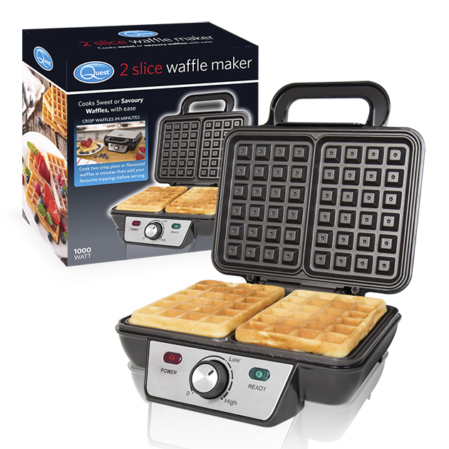 2 Slice Waffle Maker and box