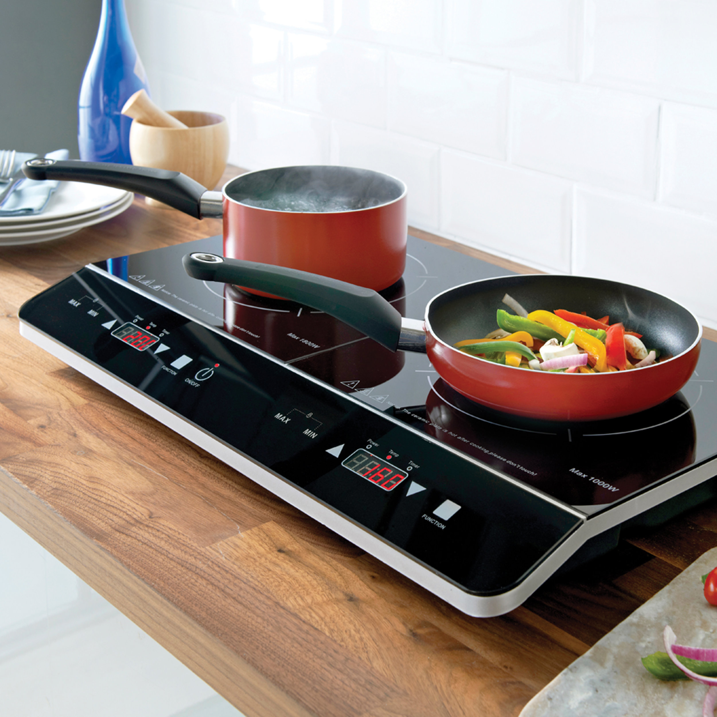 Double Digital Induction Hob