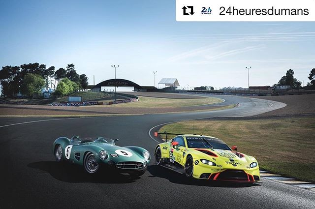 #Repost @24heuresdumans with @get_repost ・・・ This year, @astonmartinracingofficial is celebrating the 60th anniversary of its win at the 24 Hours of Le Mans. Will the marque make it to the GT class podium? We'll find out Sunday at 15:00 🏁🤩 #LEMANS24 #WEC #superfinale