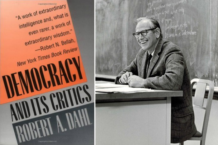 Democracy and Its Critics, and Robert A. Dahl in the classroom (Source: Wikipedia Commons)