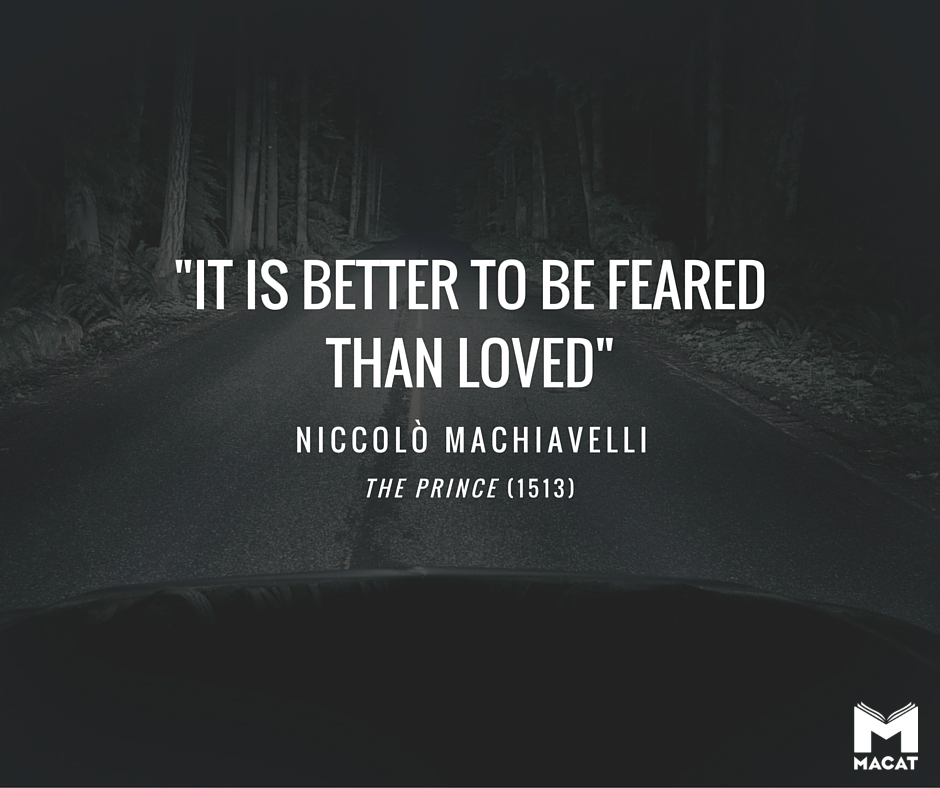 Quote from The Prince by Machiavelli