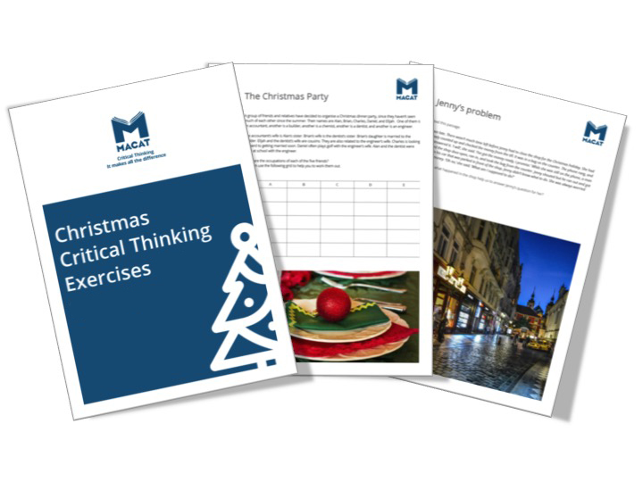 Christmas Critical Thinking Exercises for Schools