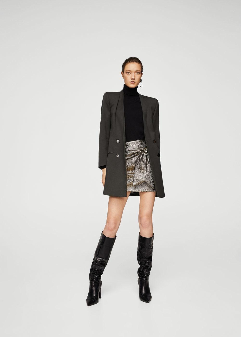 Mango Knot Metallic Skirt - £35.99