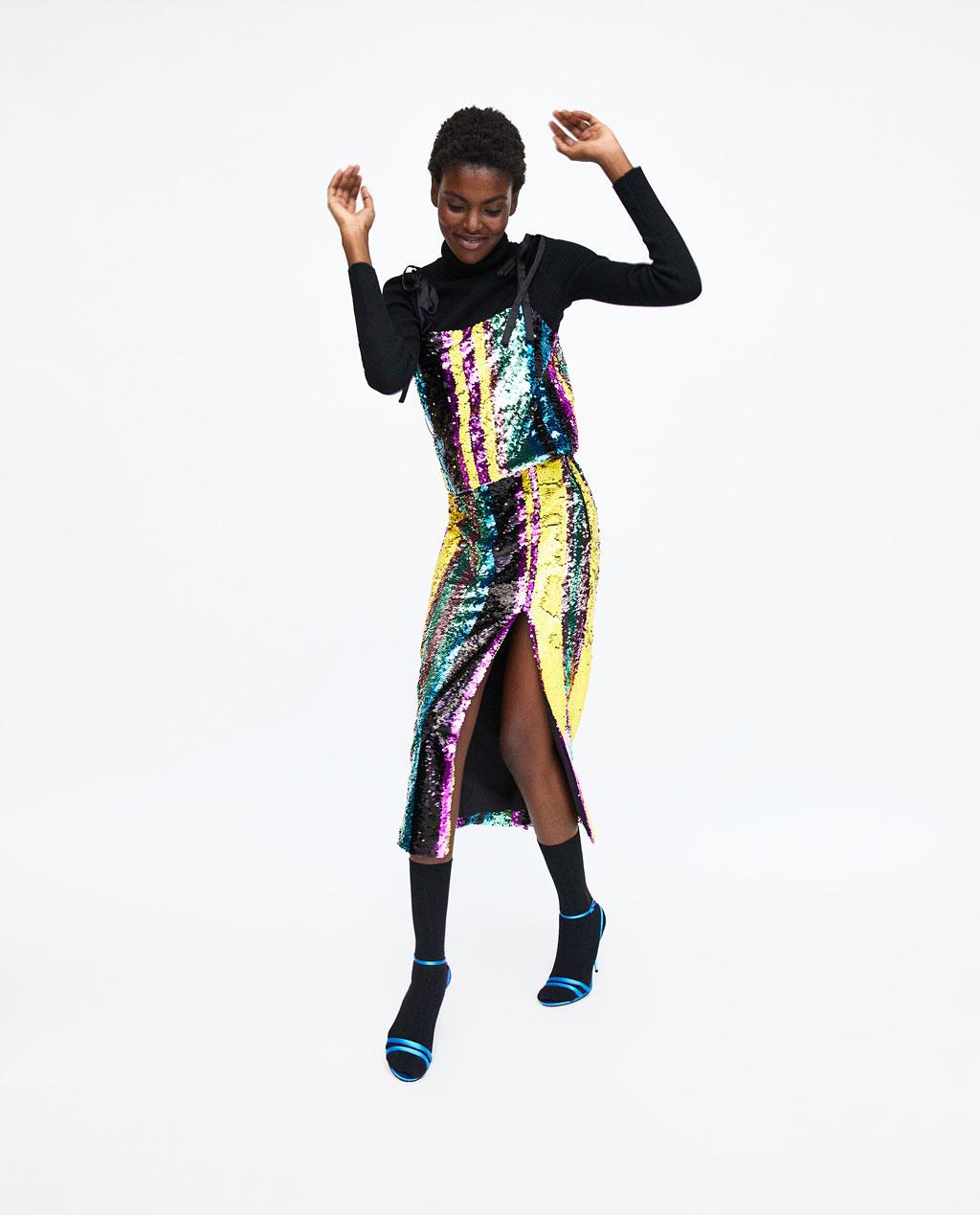 Zara Sequinned Top - £24.99
