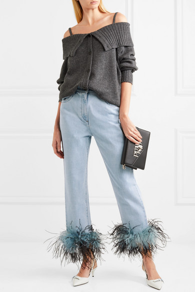 Prada Feather Jeans.jpg