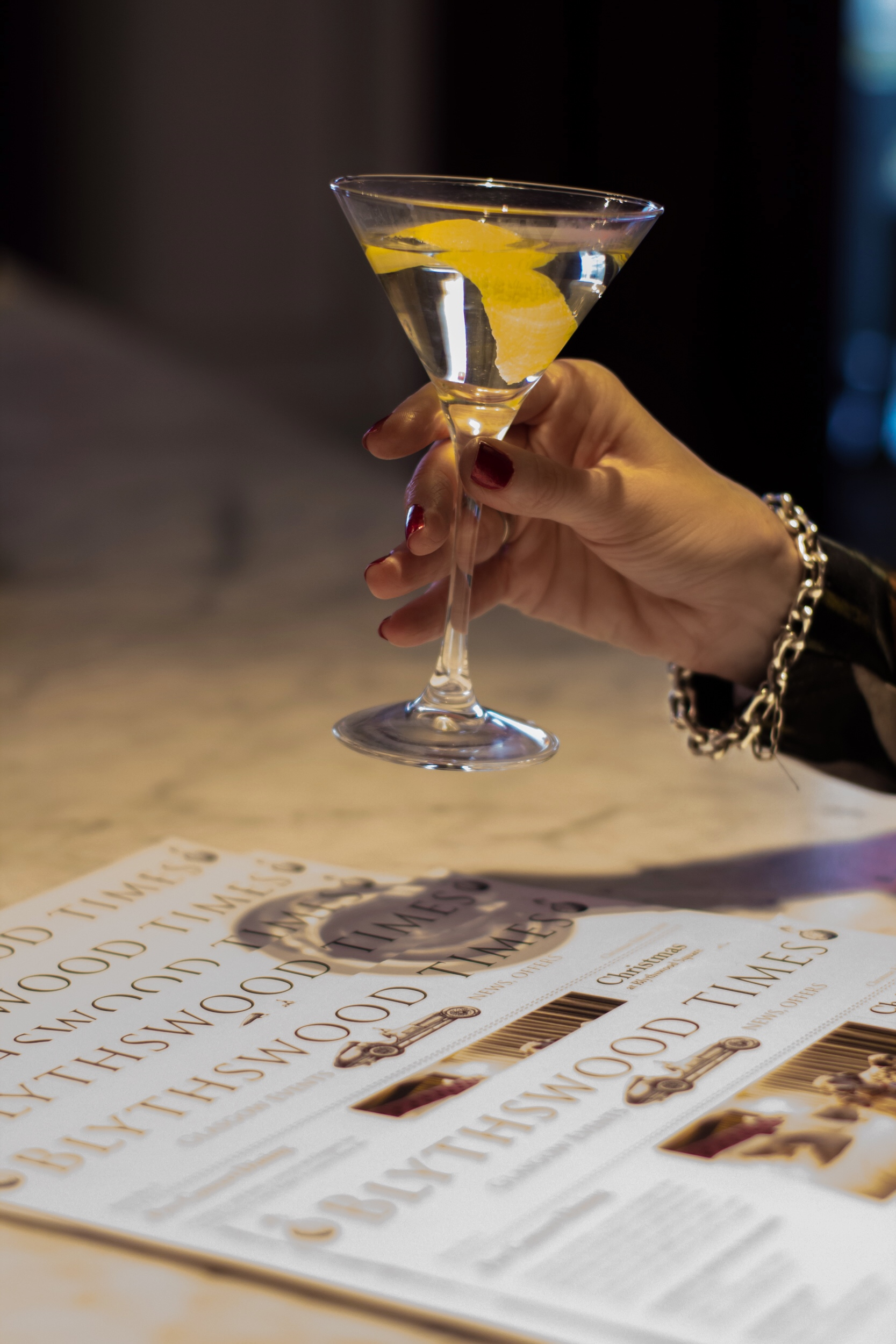 The Blythswood Hotel Salon  is a beautiful spot to browse the cocktail list or enjoy afternoon tea.