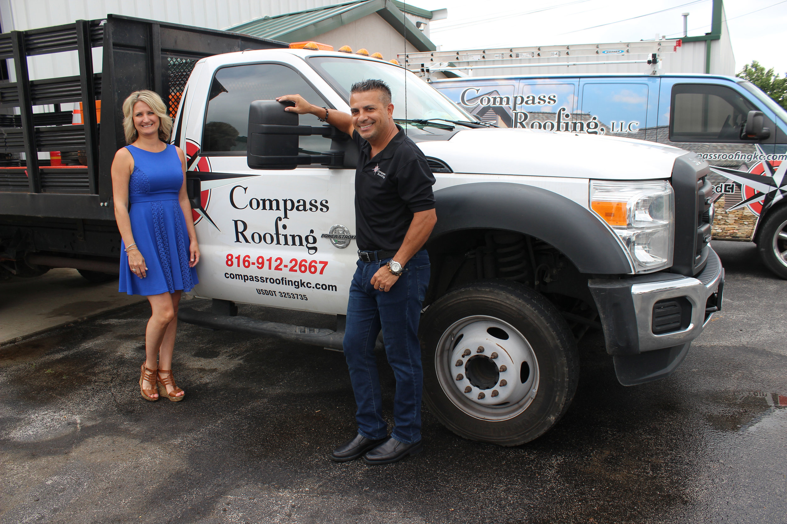 Allan and Krista Arias, Compass Roofing, LLC