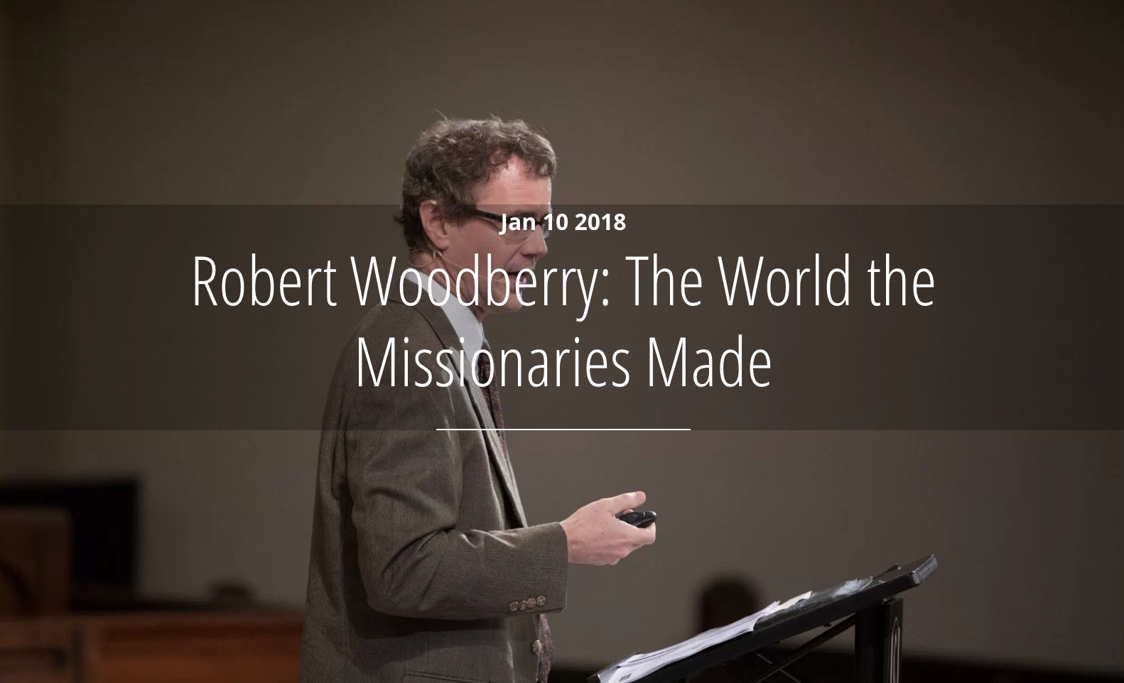 What kind of impact have missionaries made on the world? Have they harmed the world by merely exporting western values, or have they improved the world?Robert Woodberry addressed these questions and more in a lecture for the L. Russ Bush Center for Faith and Culture.  …Read More.
