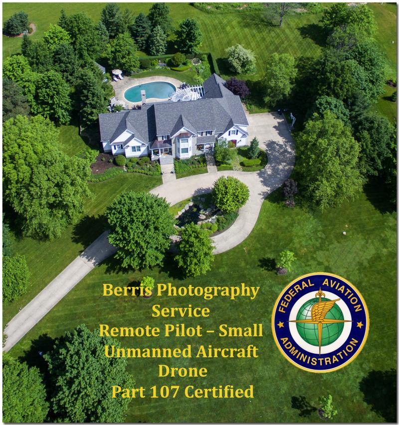 We are FAA Remote Pilot -Small Unmanned Aircraft Drone Part 107 Certified.  This is required to legally use a drone for commercial/business use.