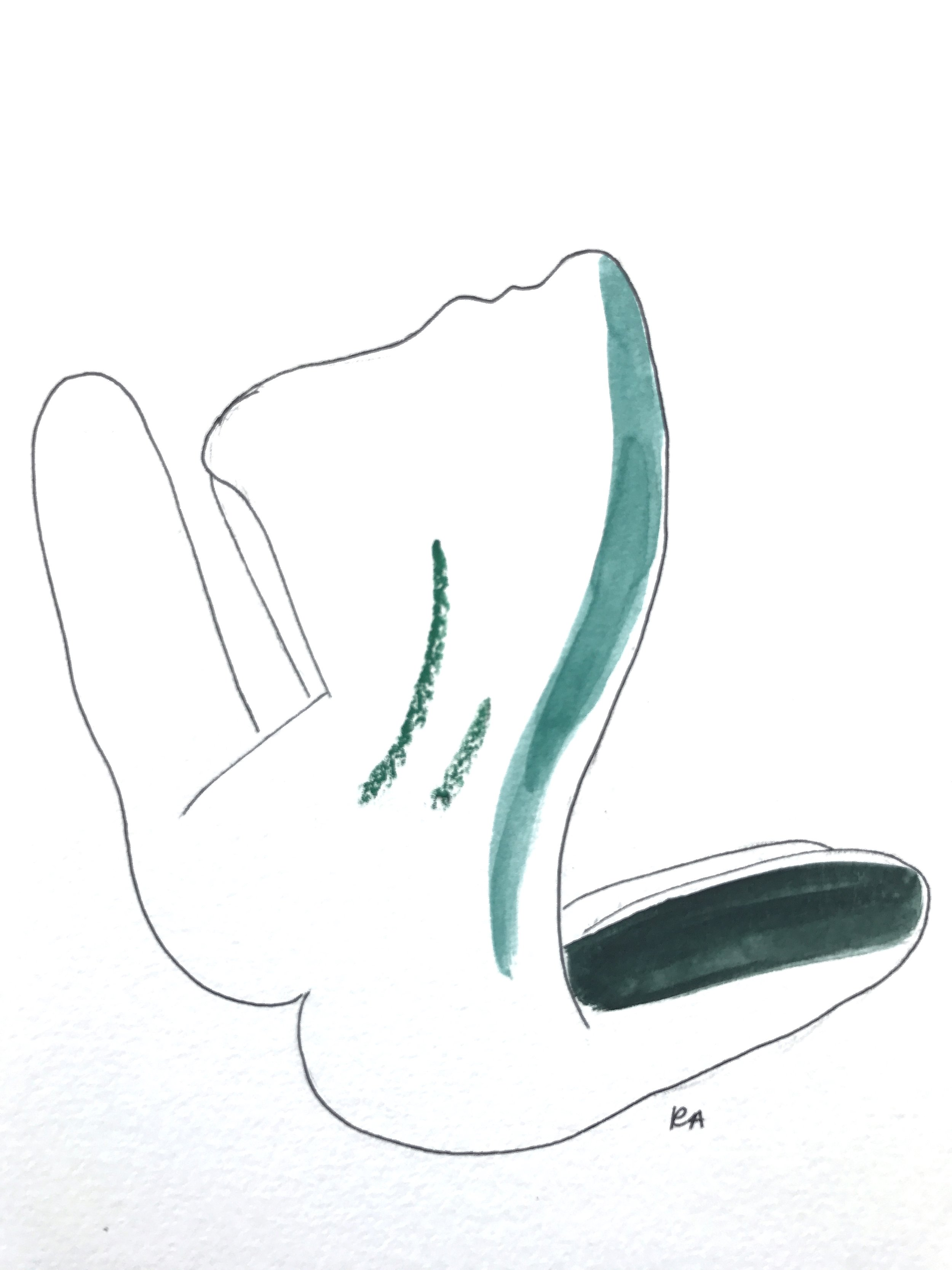 (SOLD) Nude Sketch V, 2017