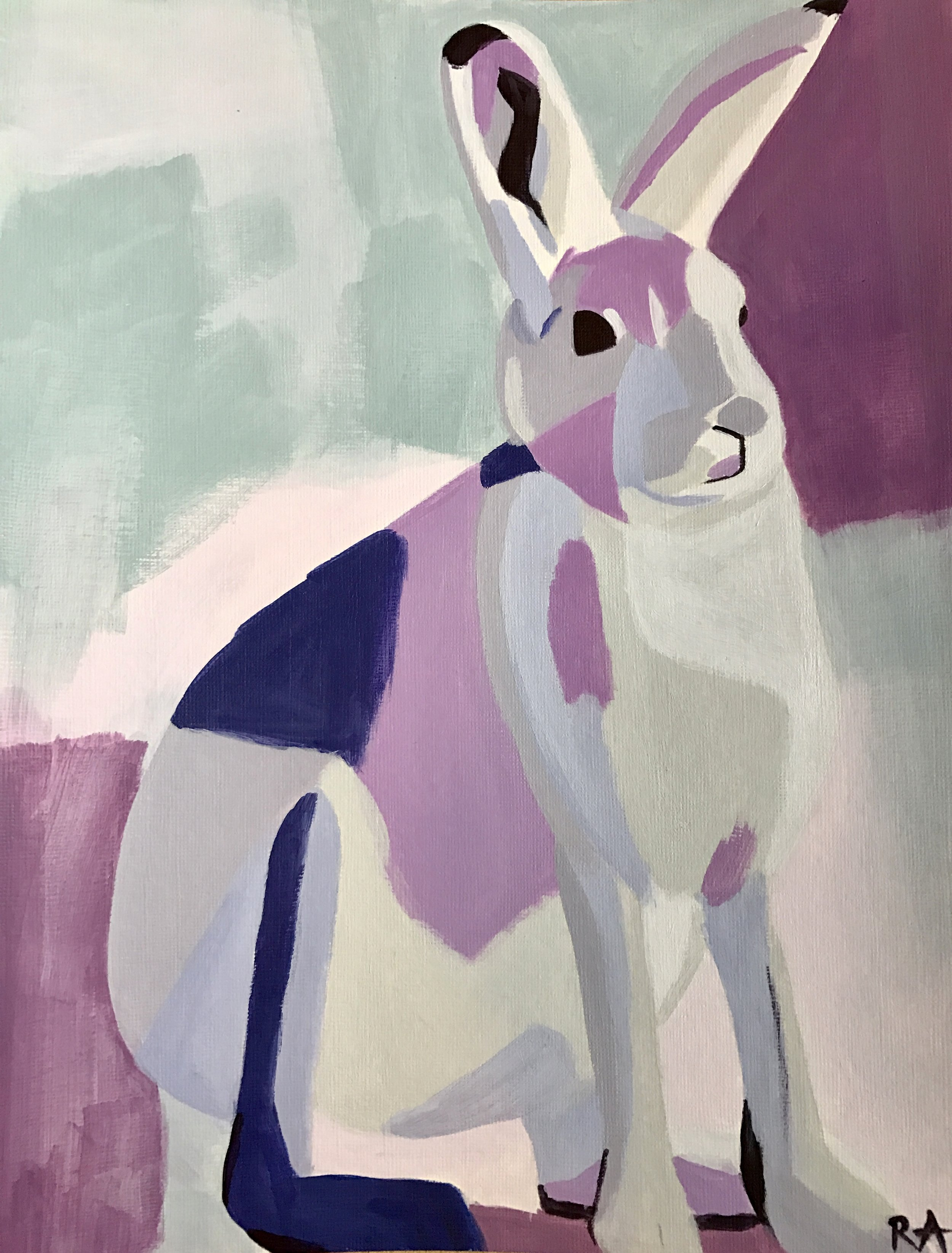 (SOLD) Lilac Hare, 2016