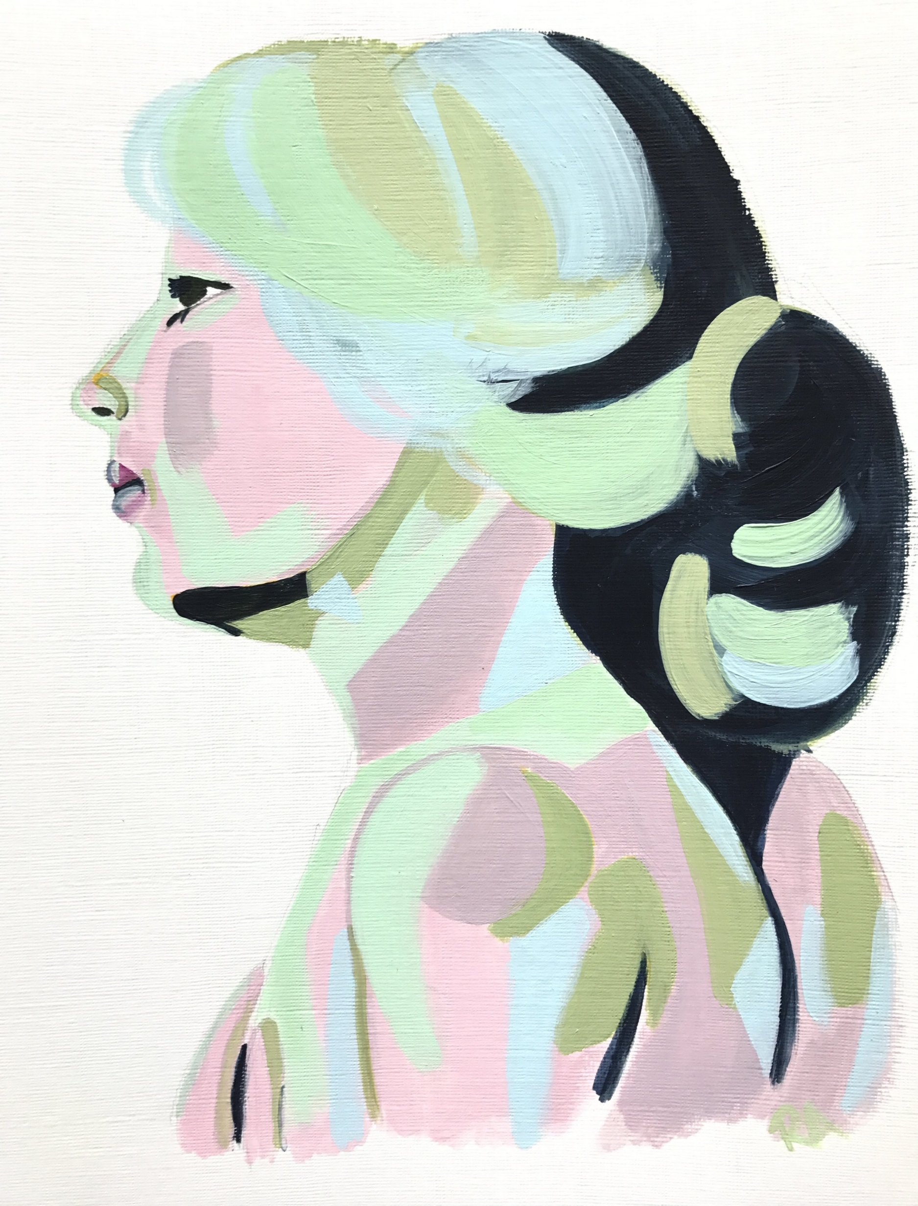 (SOLD) Mint Portrait, 2016