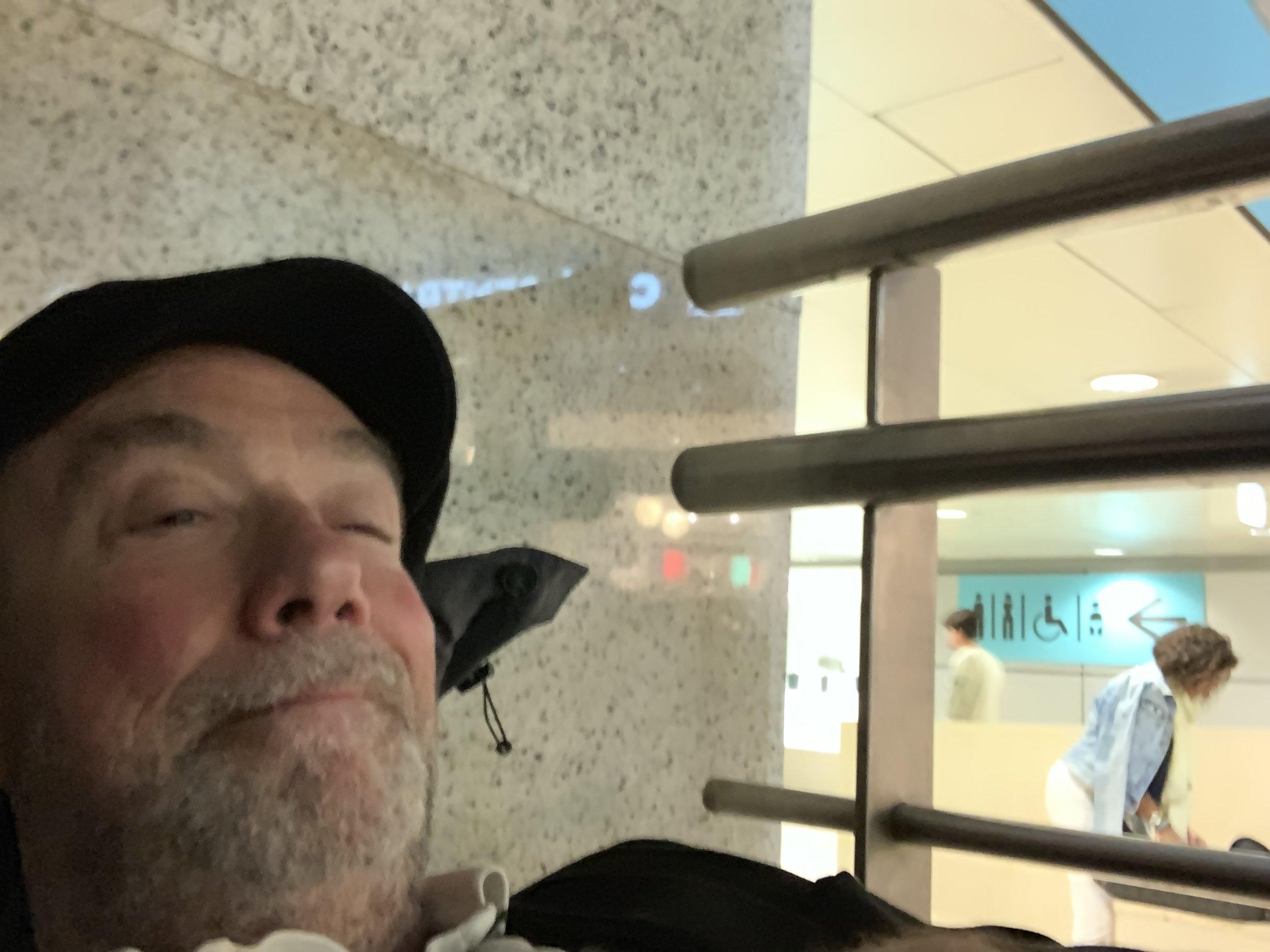 Sleeping a night in Lisbon airport. -